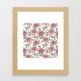 chineese peonies Framed Art Print