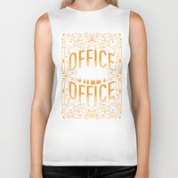 the office Biker Tanks featuring Office Sweet Office by Roberlan Borges