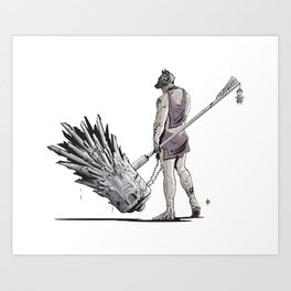 """THE CHAIN BREAKER"" Art Print"