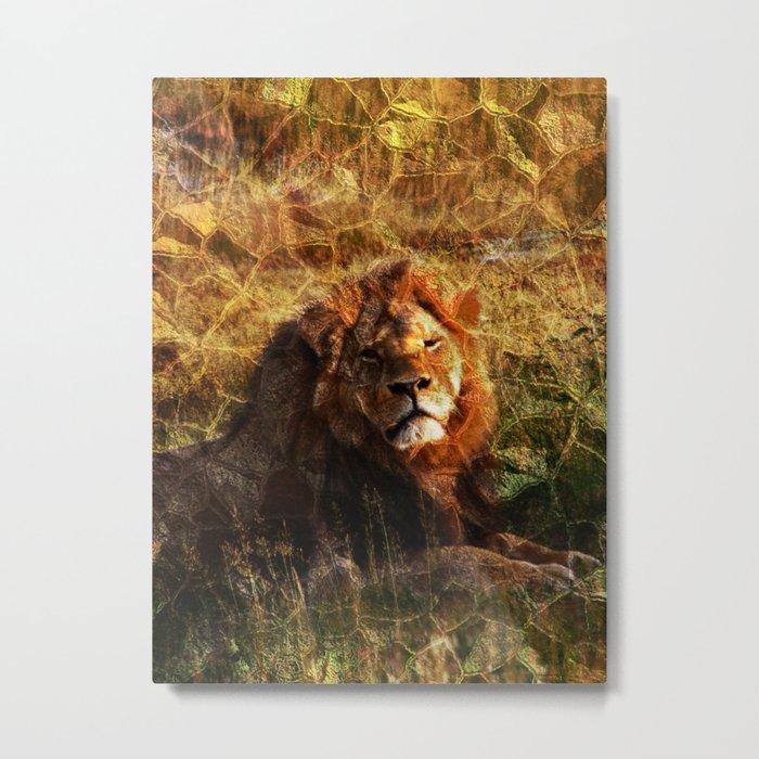 Cecil, the Lion Metal Print
