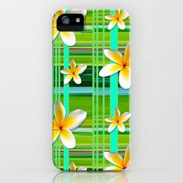 Plumaria Plaid iPhone Case