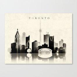 Toronto, Black and White, Canada Canvas Print