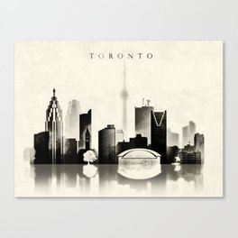 Toronto, Black and White, Canada Canvas Print
