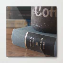 Coffee with Chaucer Metal Print
