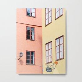 Urban Color Block Metal Print
