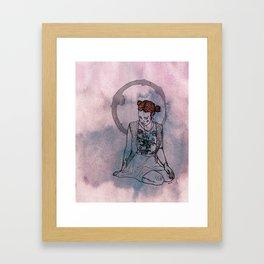 sittin Framed Art Print