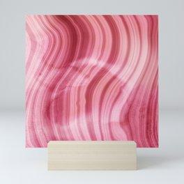 Summer Pink  Mermaid  Marble Mini Art Print