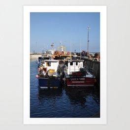Seahouses Art Print