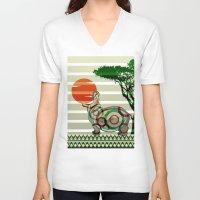 dreamer V-neck T-shirts featuring Dreamer by milanova