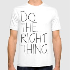Do The Right Thing White MEDIUM Mens Fitted Tee