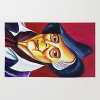 quentin tarantino Area & Throw Rugs featuring QUENTIN CRISP by Matthew Z Kessler