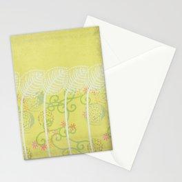 Floral Pattern:  Vintage Garden Series 8, lavender, pink, citron green, white Stationery Cards