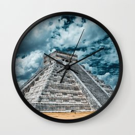 Chichen Itza Visions Wall Clock