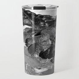 Breakwater on the Baltic Sea Travel Mug