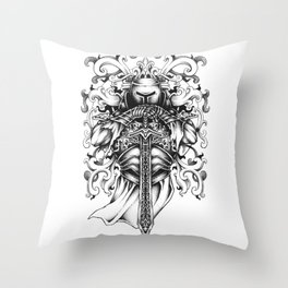 Knight of the Round Table Throw Pillow