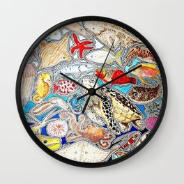 Marine life Wall Clock
