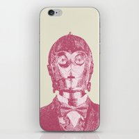 c3po iPhone & iPod Skins featuring C3PO by NJ-Illustrations
