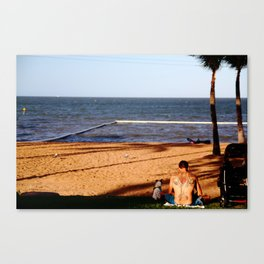 Beach Tattoo Canvas Print
