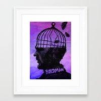 birdman Framed Art Prints featuring Birdman  by Dan K Norris