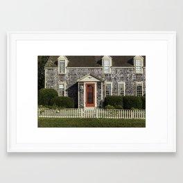 Cape Cottage Framed Art Print