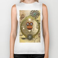 steampunk Biker Tanks featuring Steampunk  by nicky2342