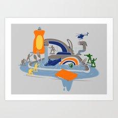 Sink Sank Sunk Art Print