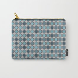 Grey blue circle 6 Carry-All Pouch