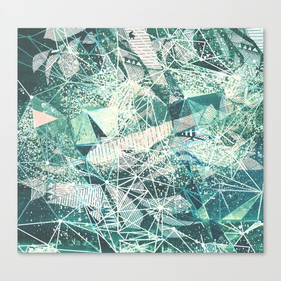 emerald space Canvas Print