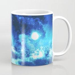Blue on Moon Coffee Mug