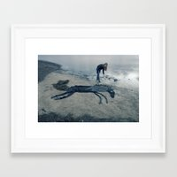 sea horse Framed Art Prints featuring Sea horse by Kestere