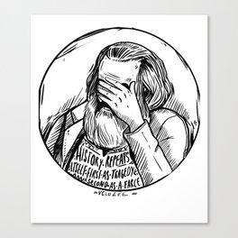 Facepalm Marx Canvas Print