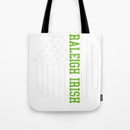 Raleigh Irish graphics by Howdy Swag design Tote Bag