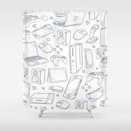 Computer Gaming Video Game Pattern Shower Curtain