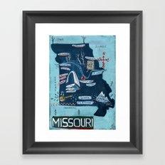 MISSOURI Framed Art Print
