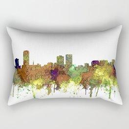 Baton Rouge, Louisiana Skyline - SG - Safari Buff Rectangular Pillow