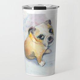 Sweet Bulldog Puppy Travel Mug