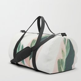 Pink Leaves I Duffle Bag