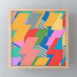 Peach Flash Lightening  Framed Mini Art Print