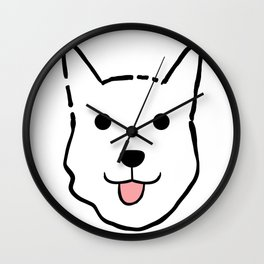 Malachi the Huskimo Dog Wall Clock