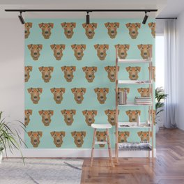 Airedale Glasses airedale dog print airedale pillow dog pattern Wall Mural