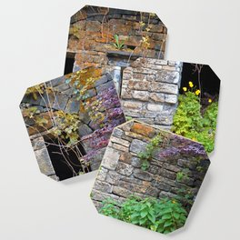ancient house  in a wall Coaster