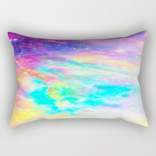 Abstract Galaxy : Bright & Colorful Rectangular Pillow