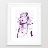 sasha grey Framed Art Prints featuring Sasha Grey Portrait by Mattew Draw