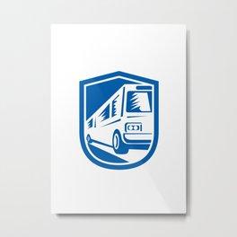 Tourist Coach Shuttle Bus Traveling Fast Retro Metal Print
