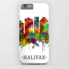 Halifax Canada Skyline iPhone Case
