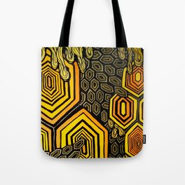 Hexagonal Reflections of an Empty Hive Tote Bag