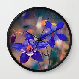 Colorado Columbine Flower Wall Clock