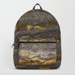 Gold and gravel pattern Backpack