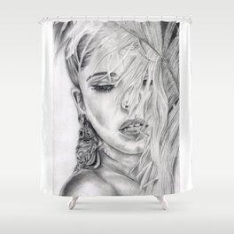 Feather Girl Aloud Shower Curtain