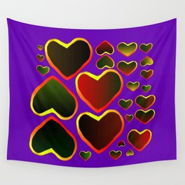 Hearts on fire Wall Tapestry